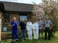 The team from Torness at the Aberlour bungalow in St Boswells.