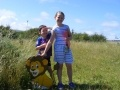 Rio (5) and Sevi (8) taking part in the Torness safari adventure trail.