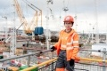 Hinkley Point C Apprentice, Beth Sharkey. As one of the sites newest recruits, Bethany was previously working in a dental laboratory in Bridgwater before getting a job on-site as a handywoman until moving into her apprenticeship.