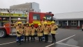 Pupils from Berwick Middle School with members of the Torness fire crew during Christmas Cracker Week