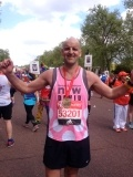 David Laird, after the London Marathon, for which he raised more than £4,000.