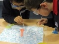 School children explore how bubbles work at Dungeness B's science show