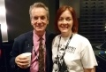 Caroline Stewart, an operations engineer at Hartlepool, with fellow George Formby fan Frank Skinner