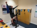 Hunterston B Plant Manager, Joe Struthers, in his office on completion of his challenge.
