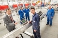 During his visit to Darchem's Stillington factory, EDF CEO Simone Rossi met 21-year-old apprentice Declan Gordon from Hartlepool – one of the hundreds of workers engaged in the construction of Hinkley Point C.