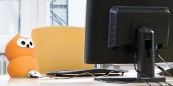 zingy operates a desktop computer