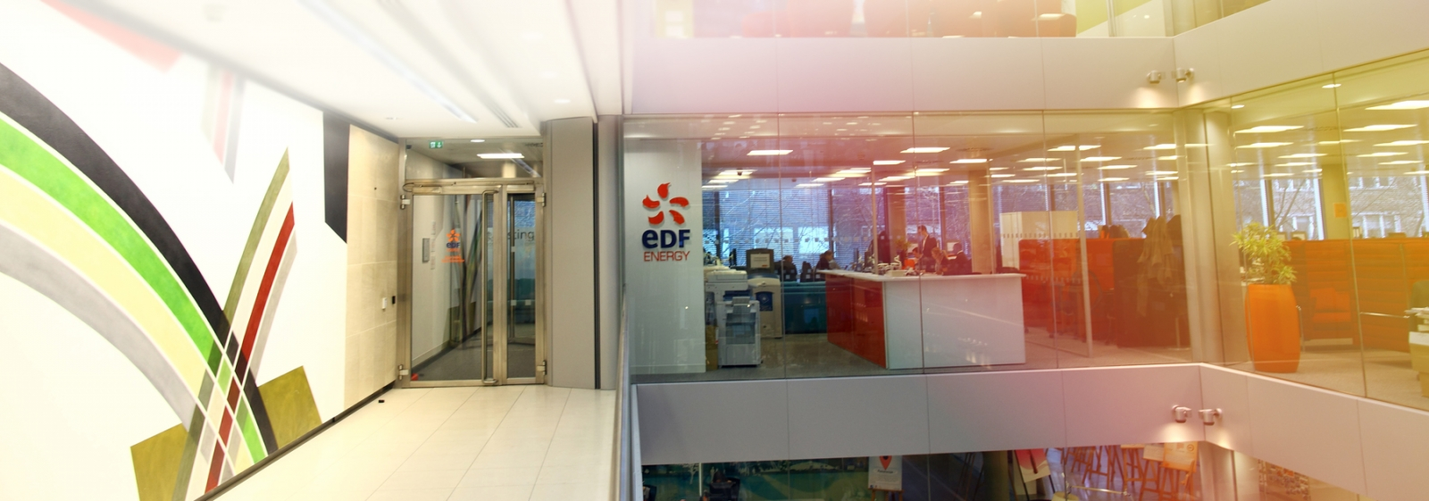 Inside an EDF Energy office