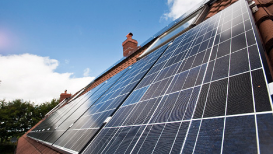 solar panels installed on a roof