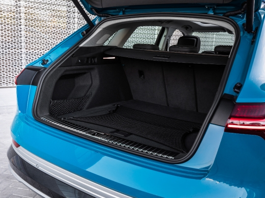 Audi e-tron rear interior view boot storage