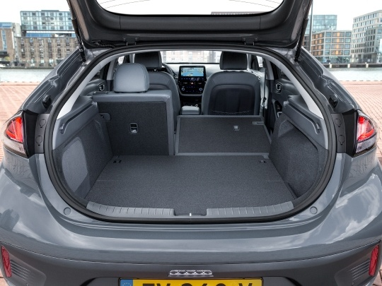Hyundai IONIQ rear view boot storage open