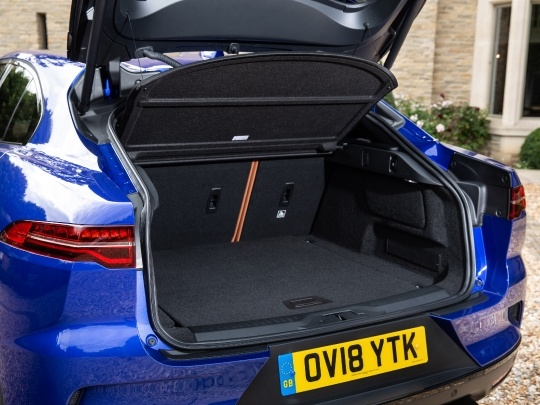 Jaguar I-Pace interior rear view boot storage