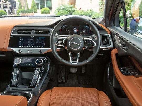 Jaguar I-Pace interior view dashboard