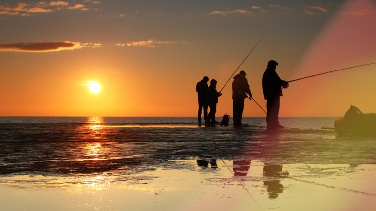 People fishing near Dungeness