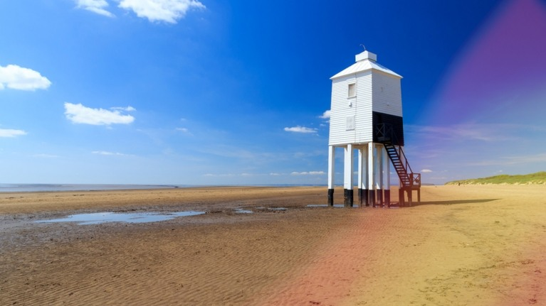 Picture of a beach near Hinkley Point power station