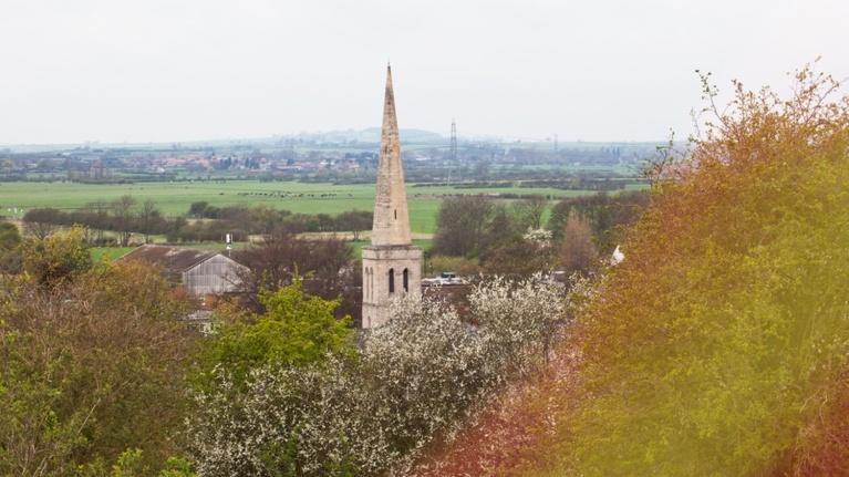 Picture of church near West Burton