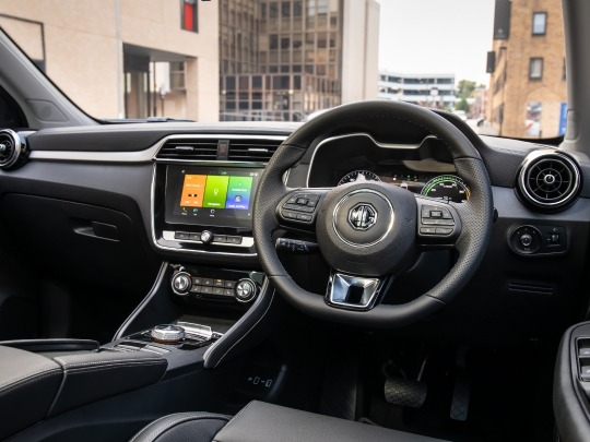 MG ZS EV interior view dashboard