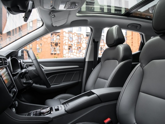 MG ZS EV interior view seating cabin
