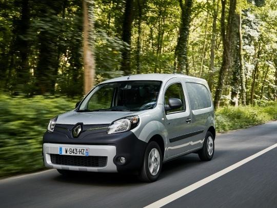 Renault Kangoo ZE front view on road