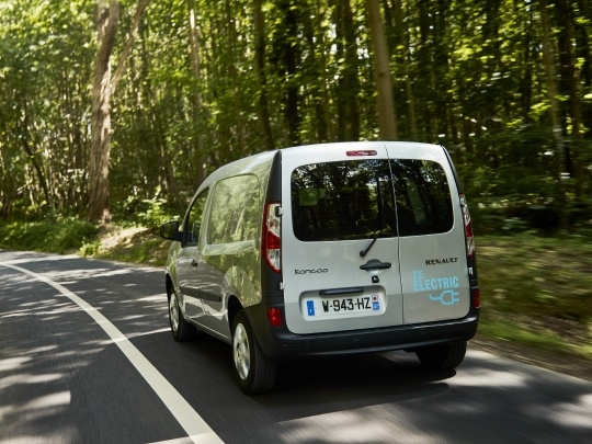 Renault Kangoo ZE rear view on road