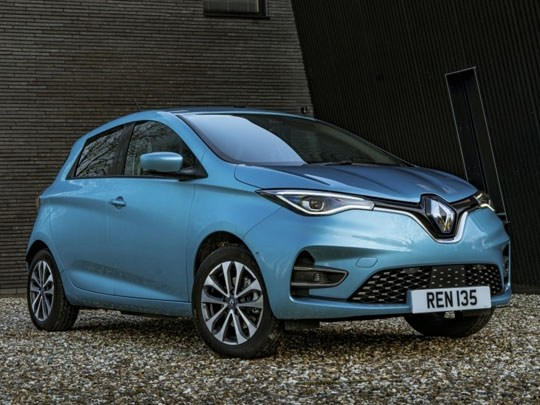 Renault ZOE R135 in Blue front