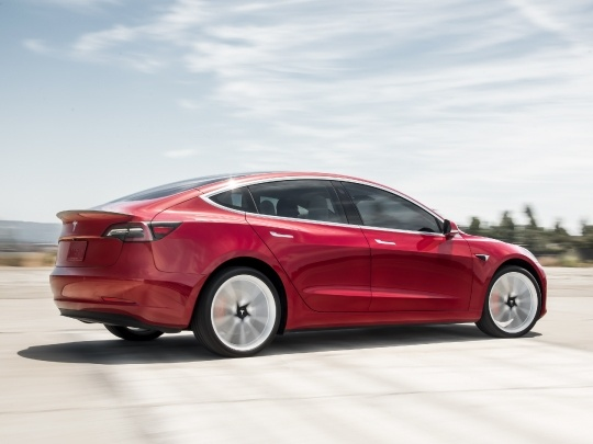 Tesla Model 3 rear view