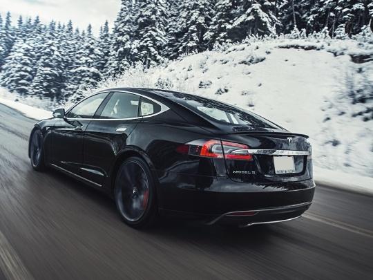 Tesla Model S rear view