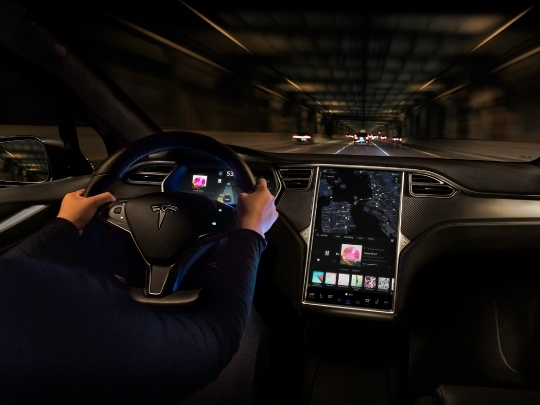 Tesla Model X interior view console