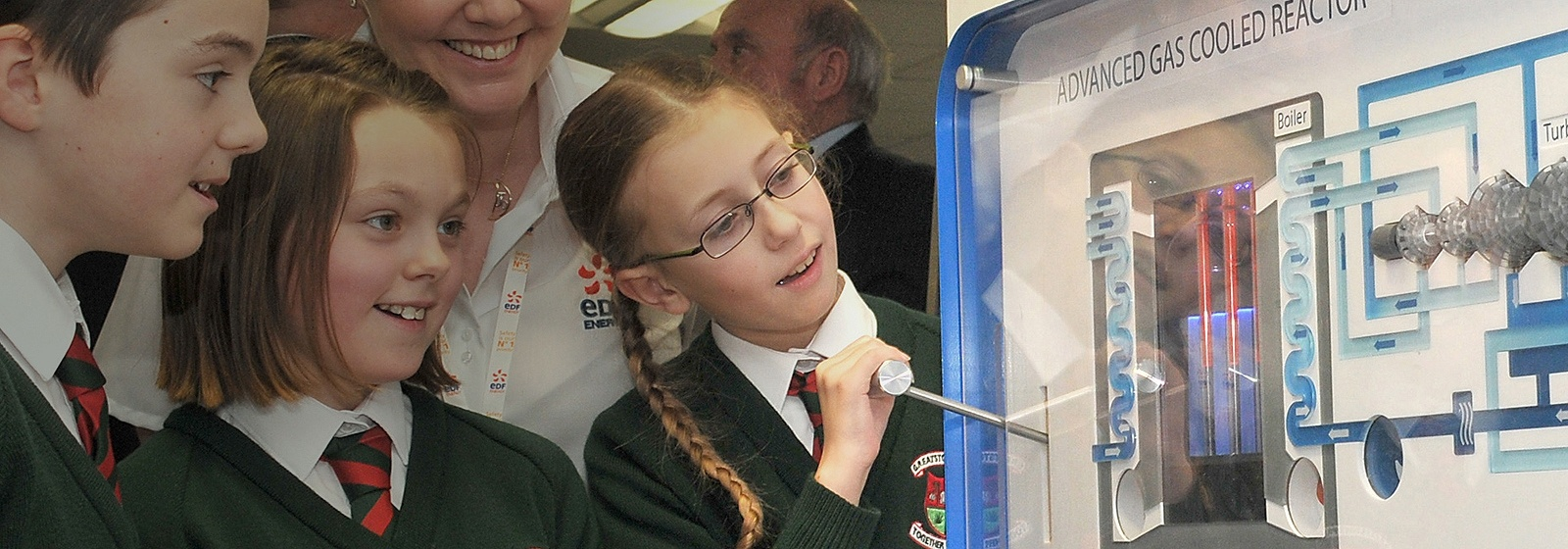 school children at EDF Energy visitor centre