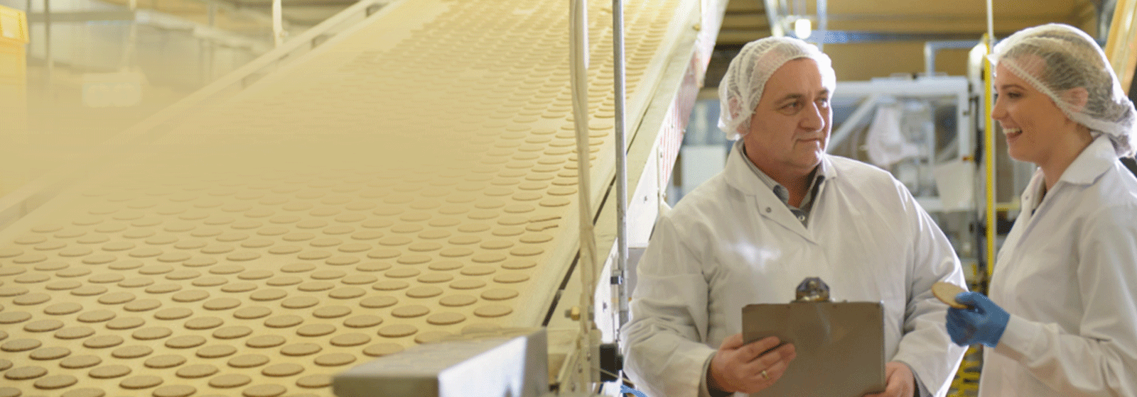People working in biscuit factory