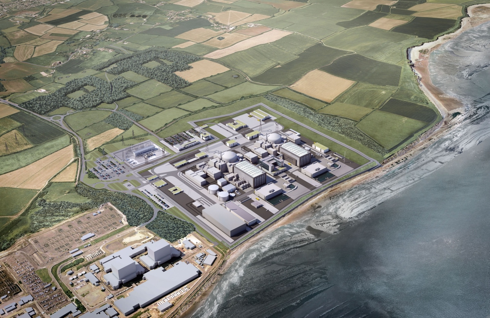 Picture of Aerial view of proposed Hinkley Point C powerstation