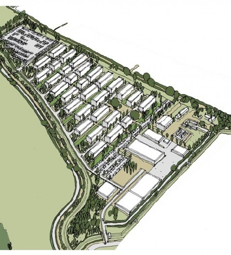 Sketch of the proposed campus layout