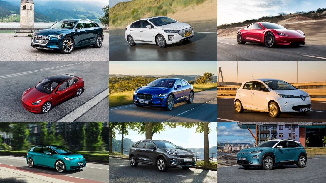 Collection of best electric cars on the market