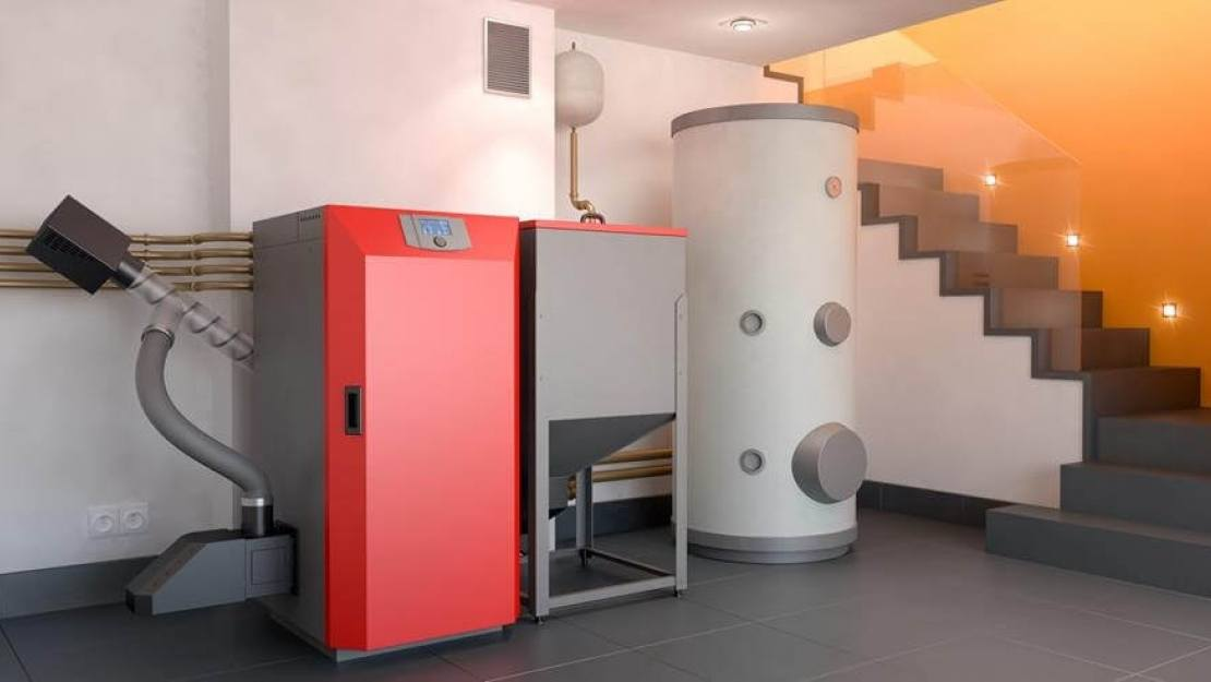 biomass boiler in a modern low carbon home