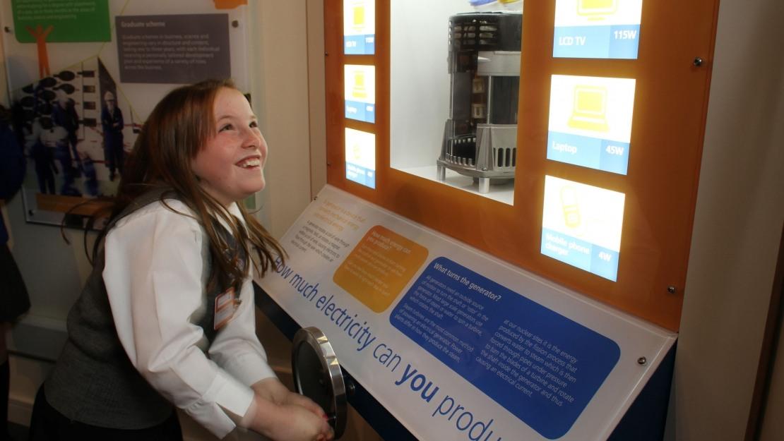 Hunterston B visitor centre exhibition