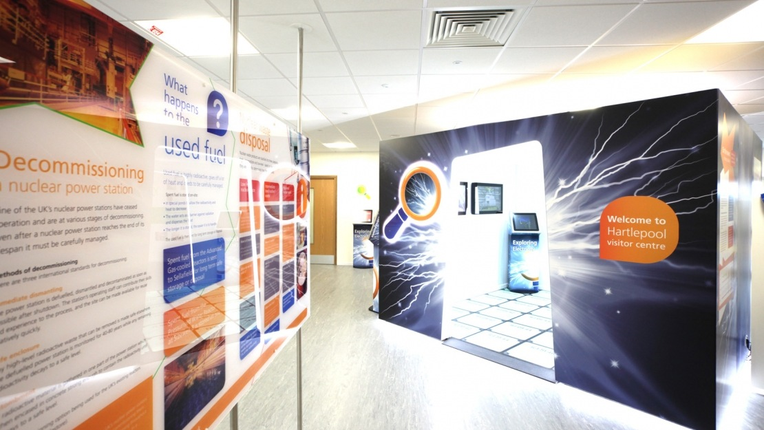 Inside the Hartlepool visitor centre