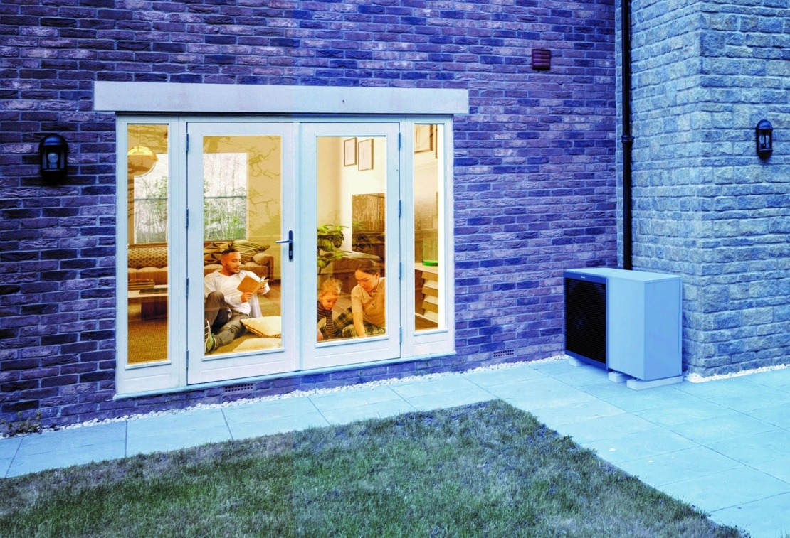 Air Source Heat Pump outside couples home
