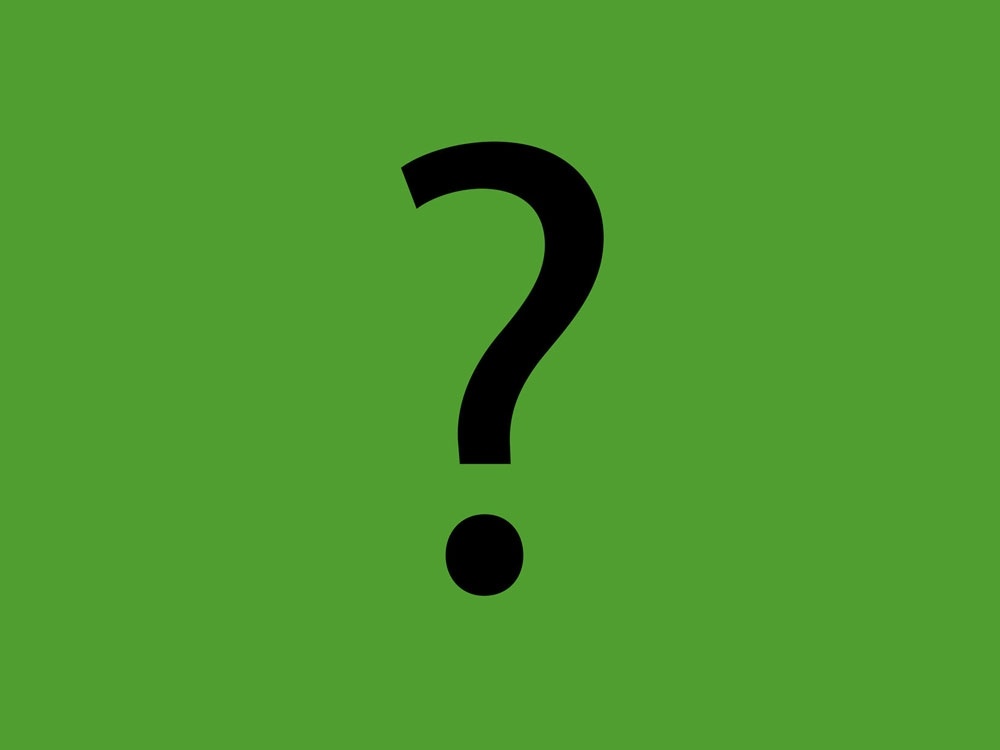 question mark on a green background