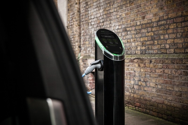 pod point public charging post