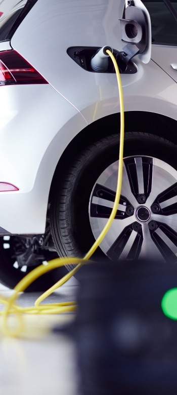 electric car charging cable at home