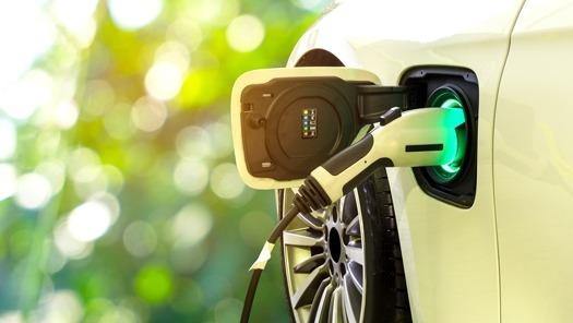 car charging in garden