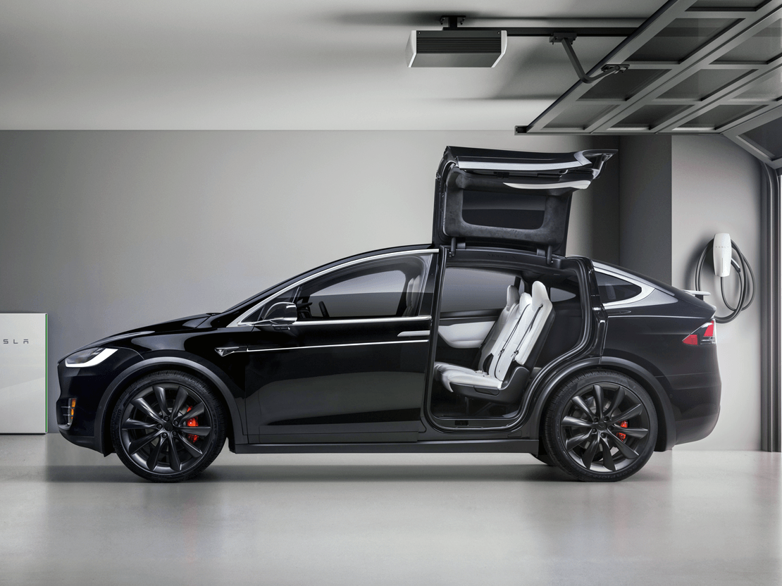 tesla model x garage profile