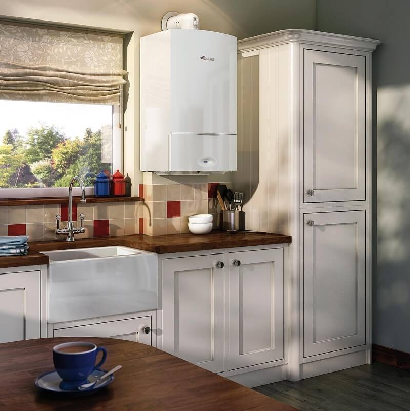 new boiler in a kitchen