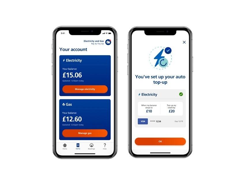 EDF mobile app screens