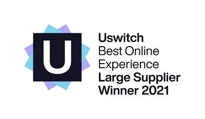 Uswitch best online experience award logo