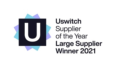 Uswitch supplier of the year award logo