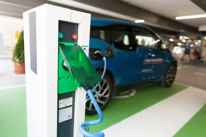 Work place electric car charge point office parking