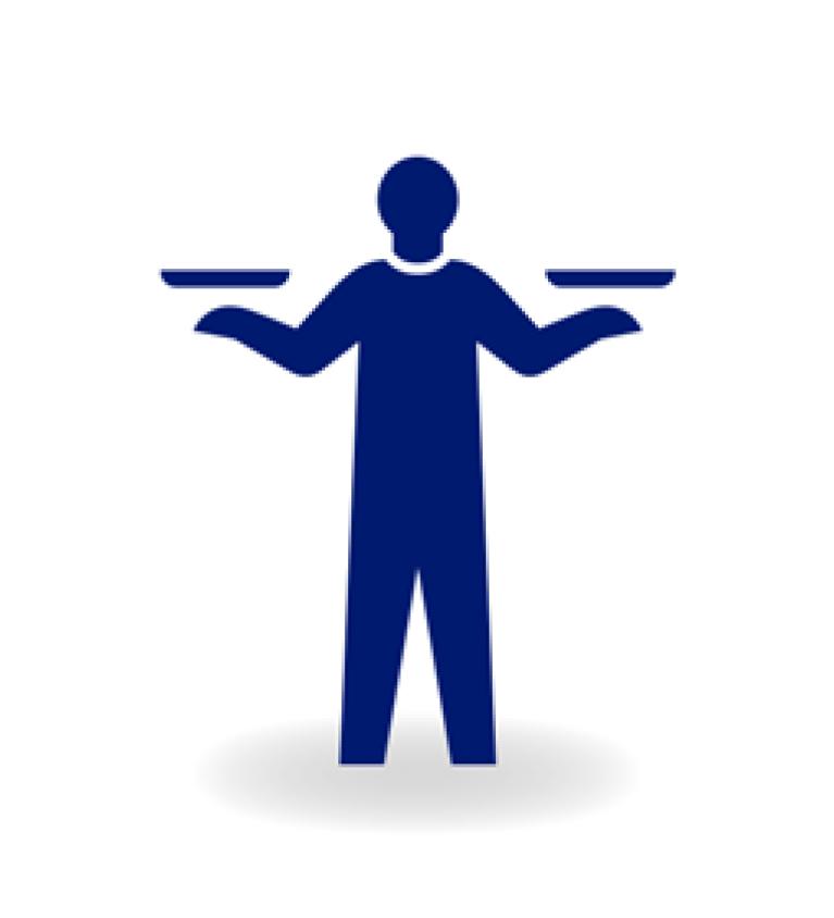 Blue man icon
