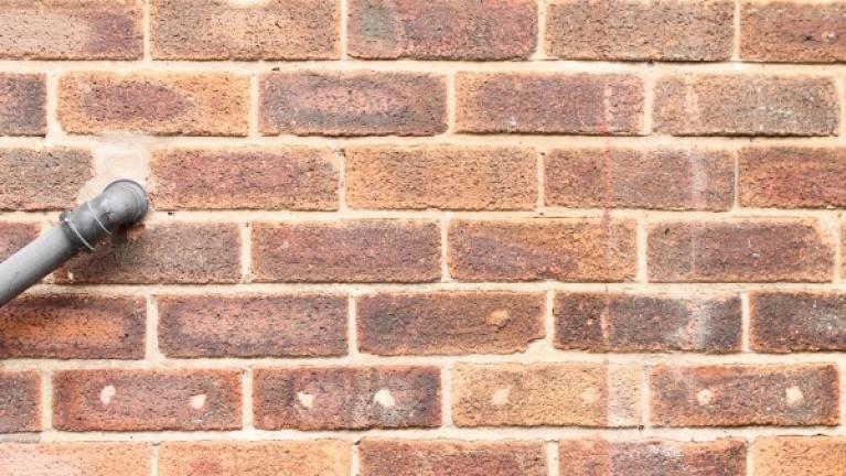 Cavity wall brick pattern example 1