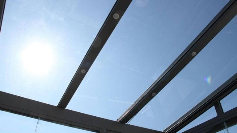 conservatory roof with UV protection