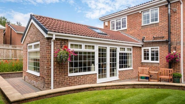 conservatory with double glazing